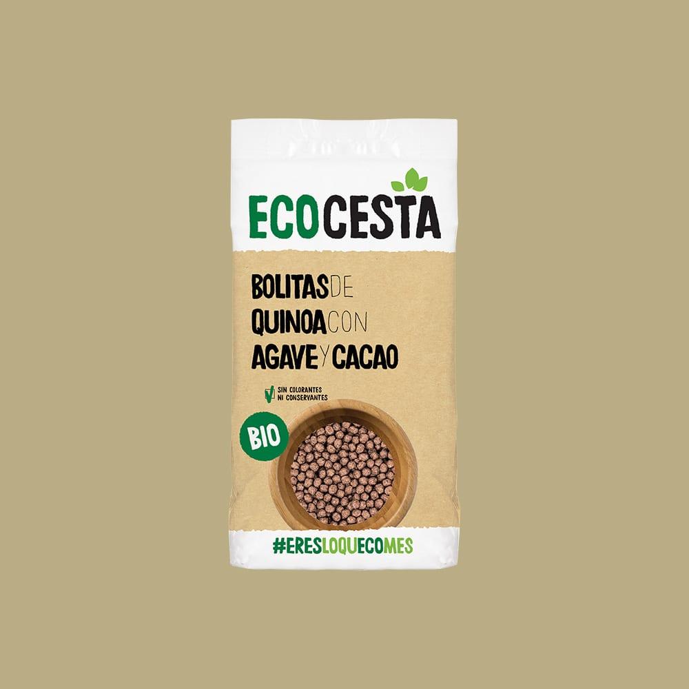 Bolitas de Quinoa con Agave y Cacao Bio, 300 g