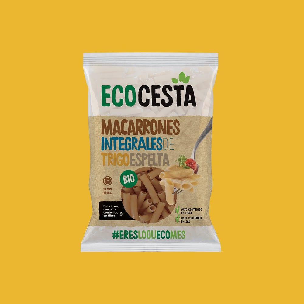 Macarrones Integrales de Trigo Espelta Bio, 500 g