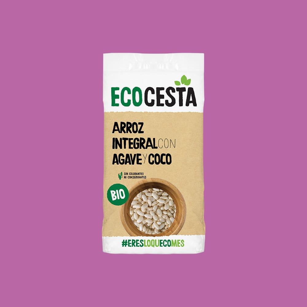 Arroz Integral Hinchado con Agave y coco Bio, 350 g