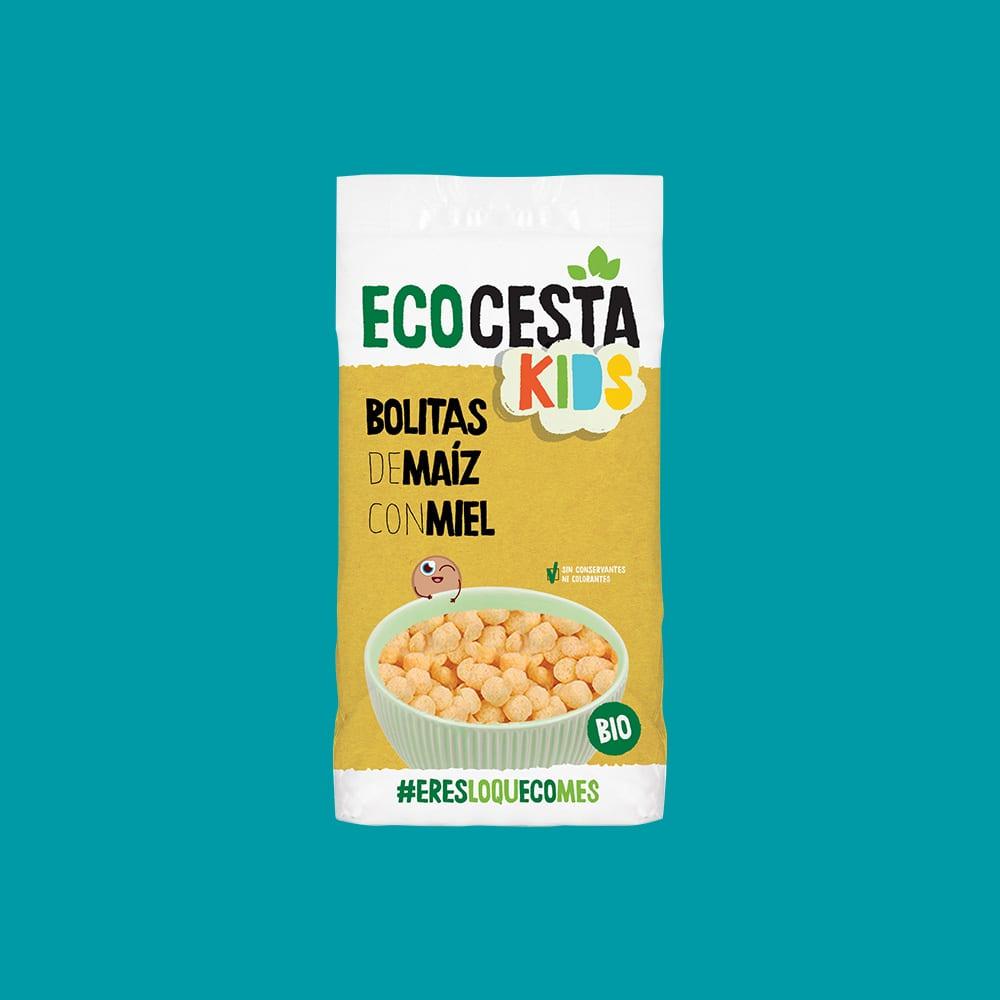 Bolitas de Maíz con Miel Bio, 400 g