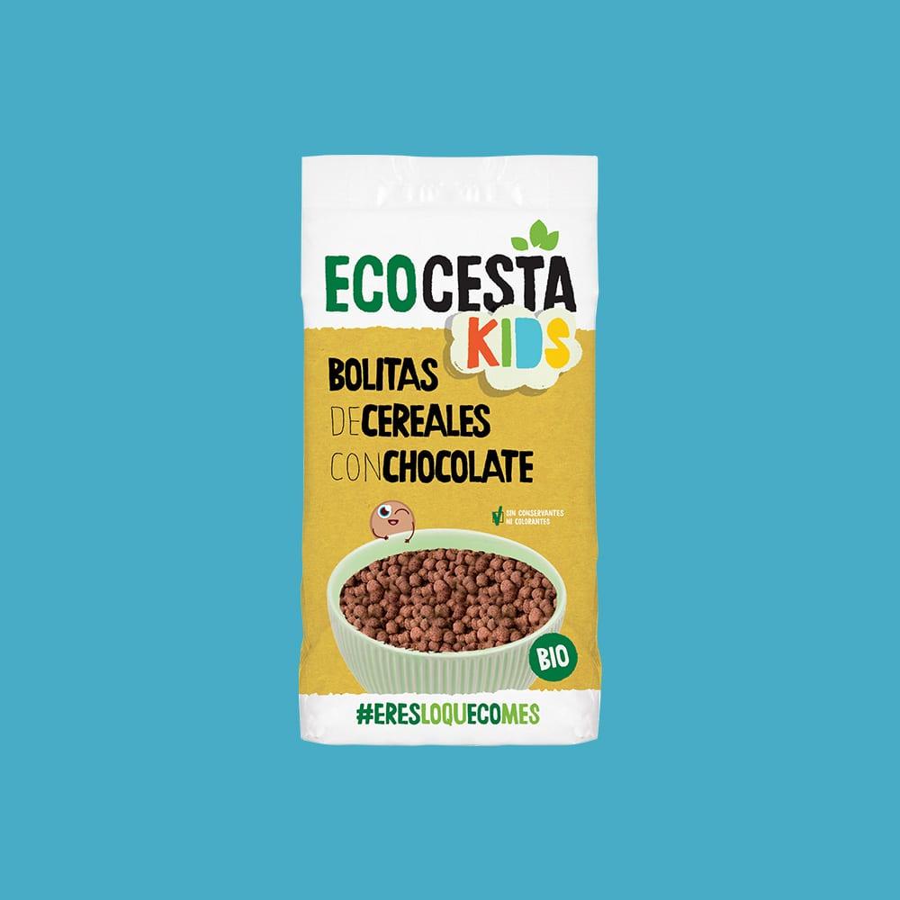 Bolitas de Cereales con Chocolate Bio, 400 g