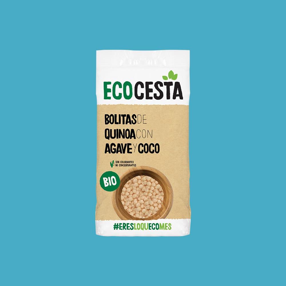 Bolitas de Quinoa con Agave y Coco Bio, 300 g