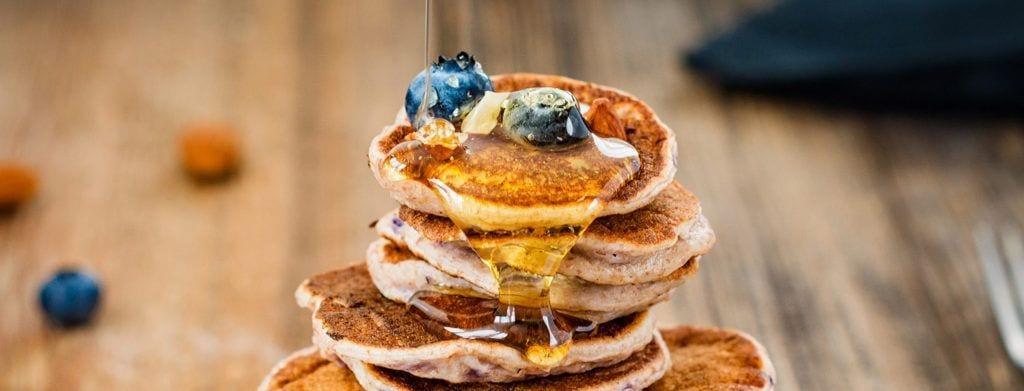 pancakes con copos de avena