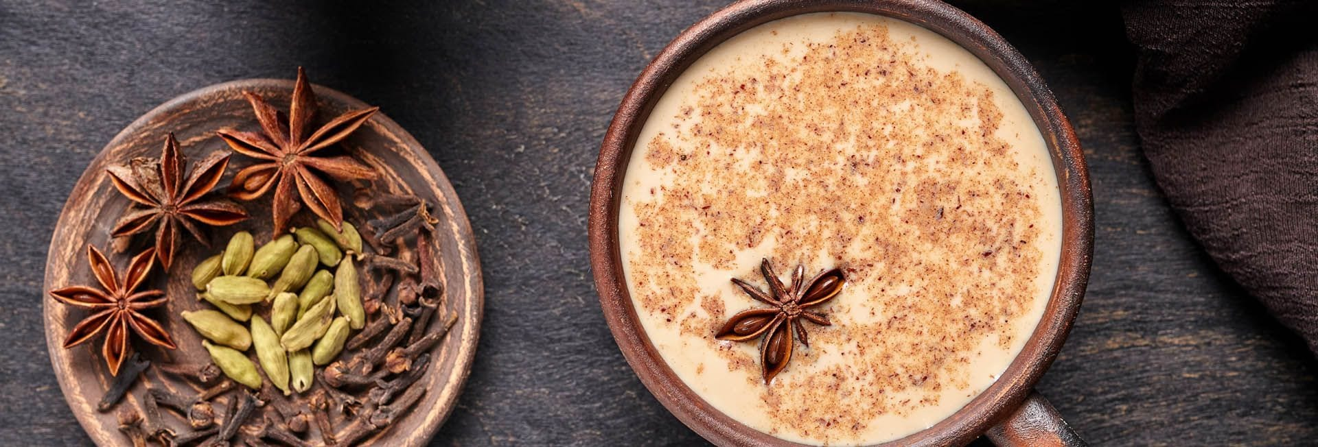 Chai latte con bebida de arroz con calcio bio