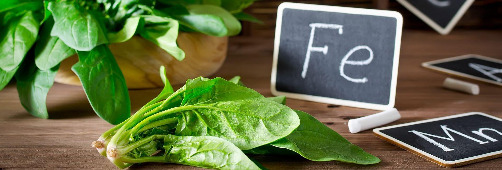 Los cereales y verduras, fuentes vegetales de hierro