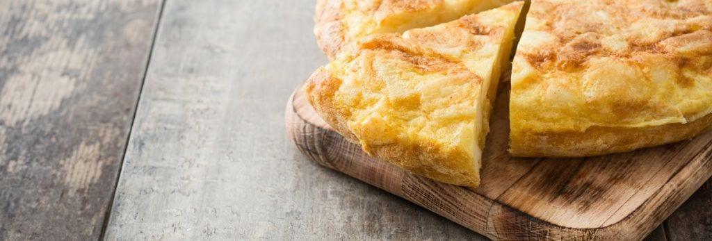 Tortilla patata vegana