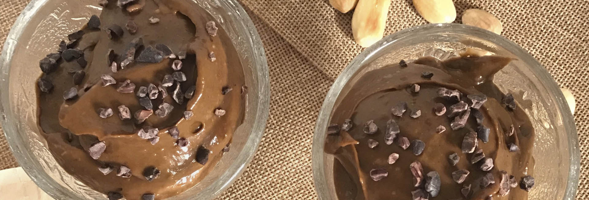 Mousse chocolate vegano