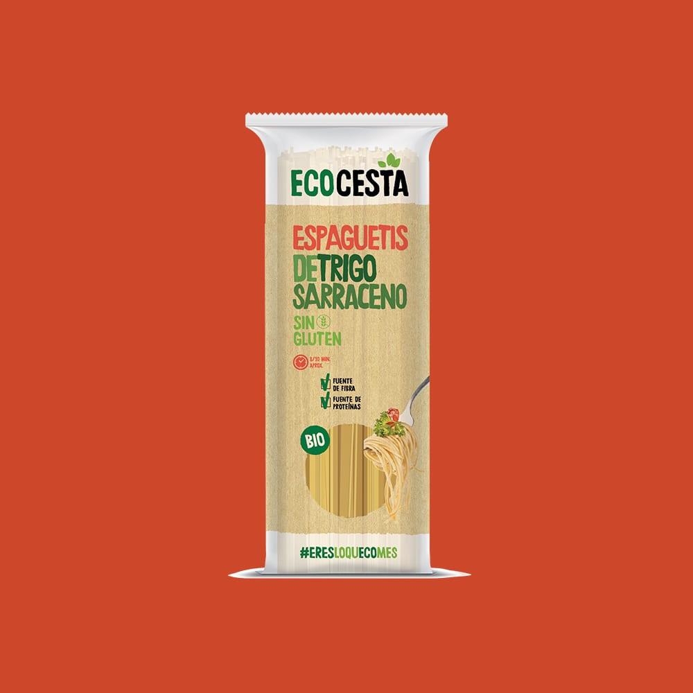 Espaguetis de Trigo Sarraceno Sin Gluten Bio, 500 g