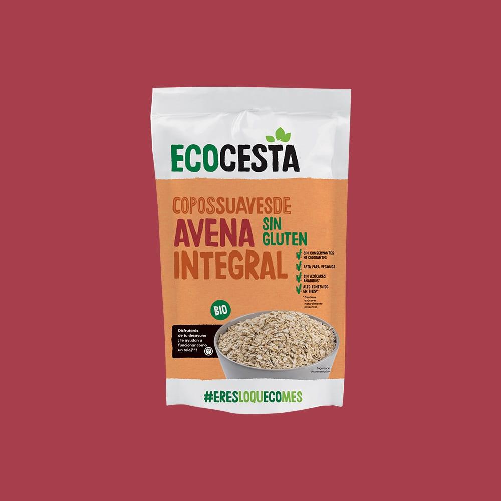 Copos Suaves de Avena Integral Sin Gluten Bio, 500 g