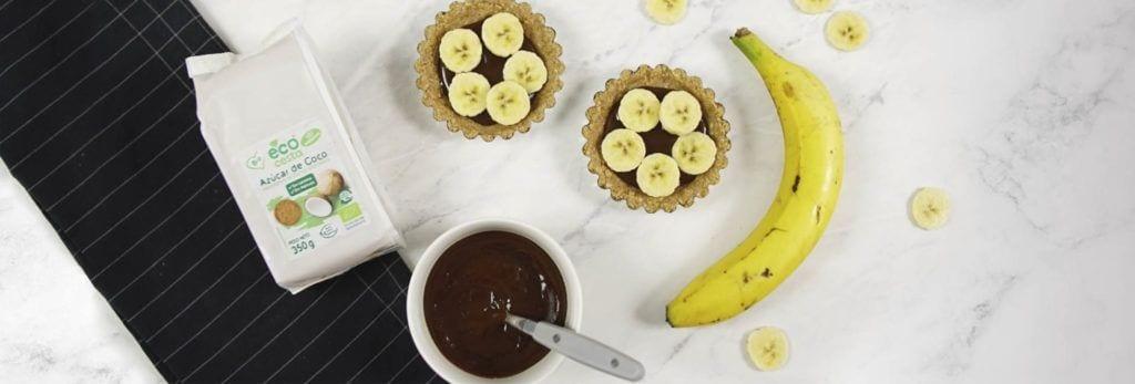 Tartaletas de plátano y caramelo