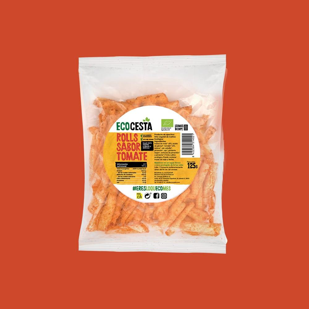 Nachos Bioroll's con Tomate Bio, 125 g