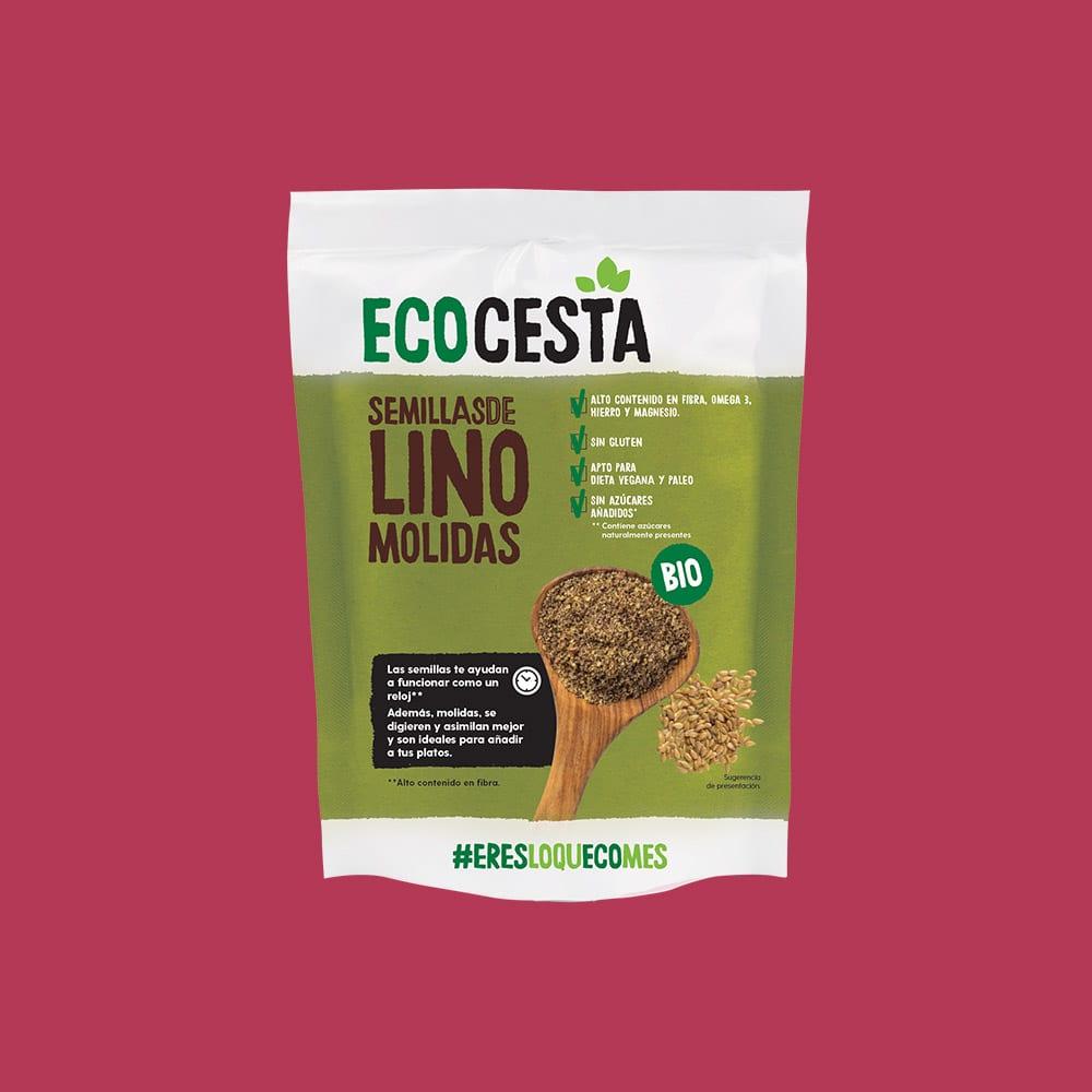 Semillas de Lino Molido Bio + 20% GRATIS, 240 g