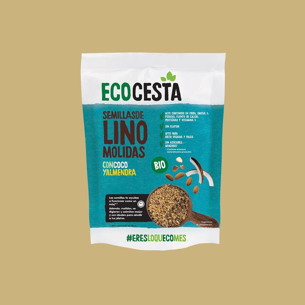 Semillas de Lino Molidas con Coco y Almendra Bio + 20% GRATIS, 240 g