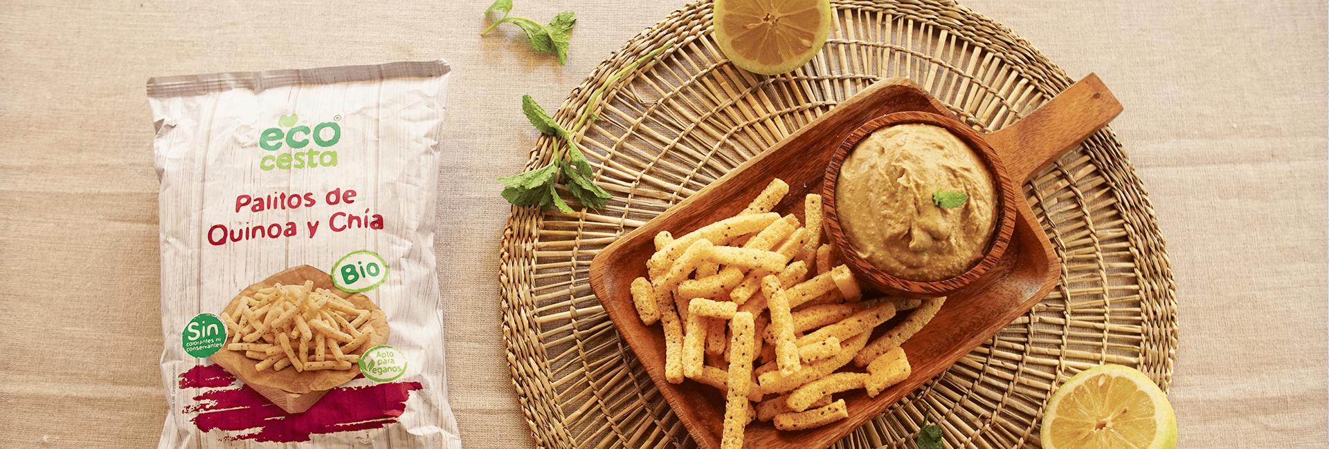Hummus de lentejas y menta