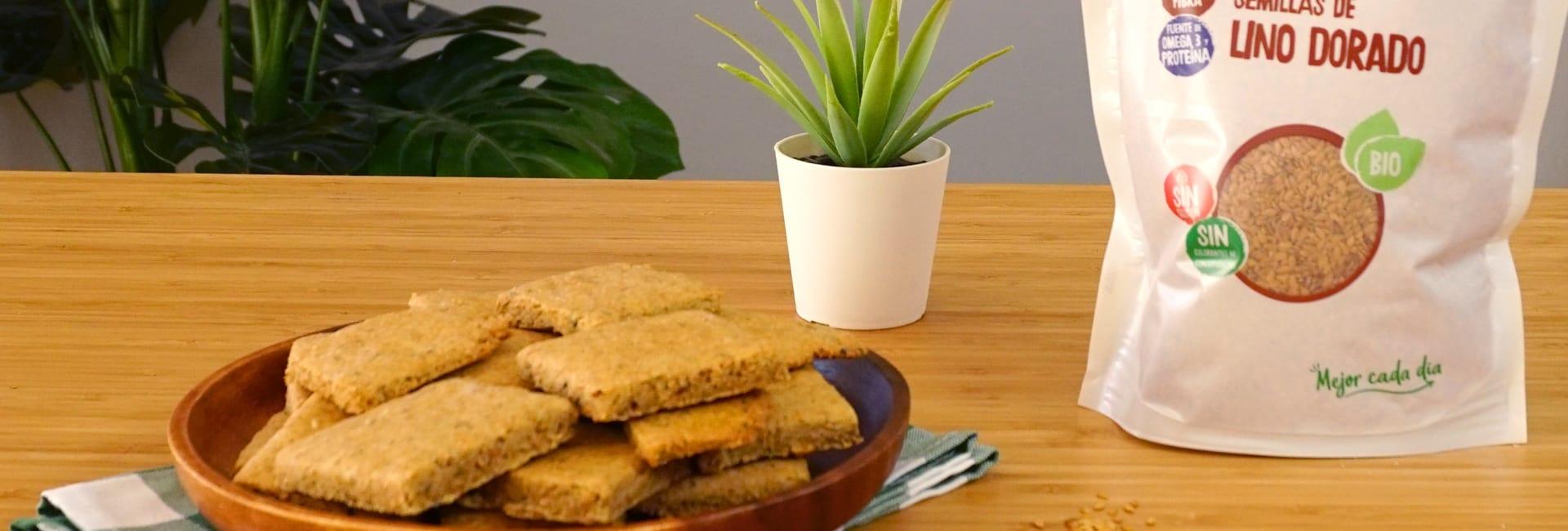 Crackers de lino y tomillo