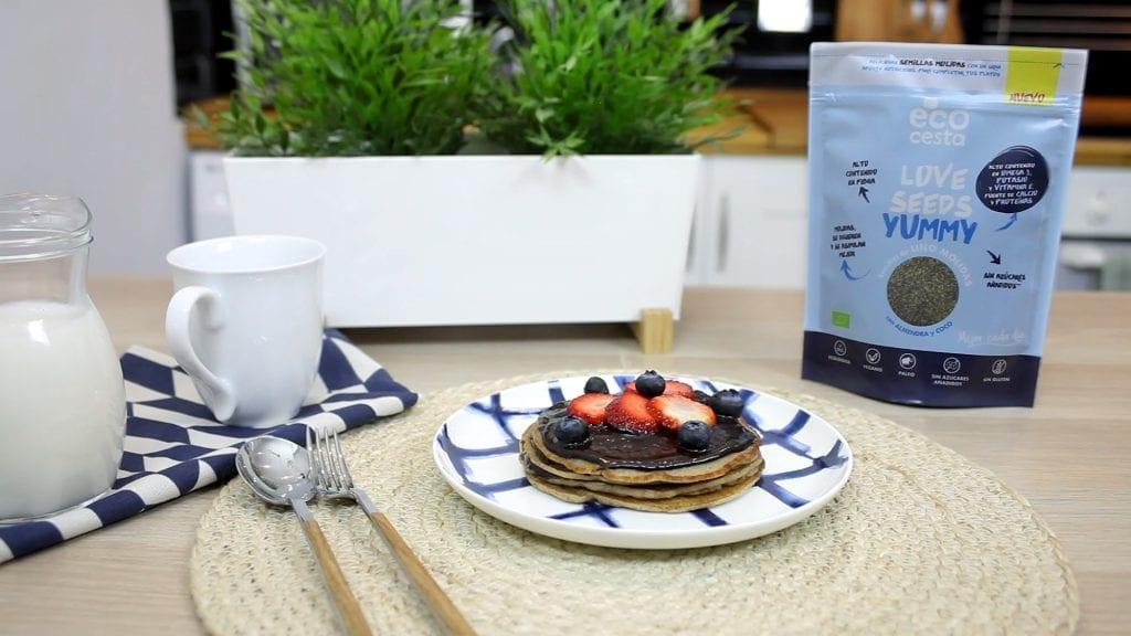 Pancakes con semillas molidas Love Seeds Yummy