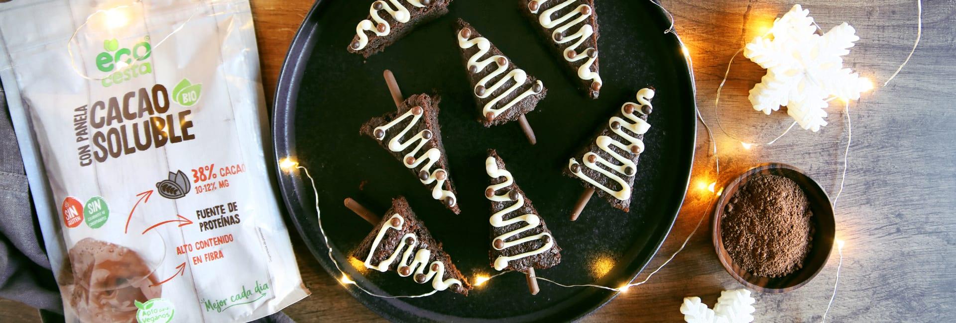 Brownies navideños