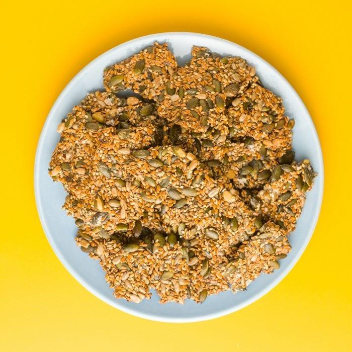 Crackers con semillas de lino dorado