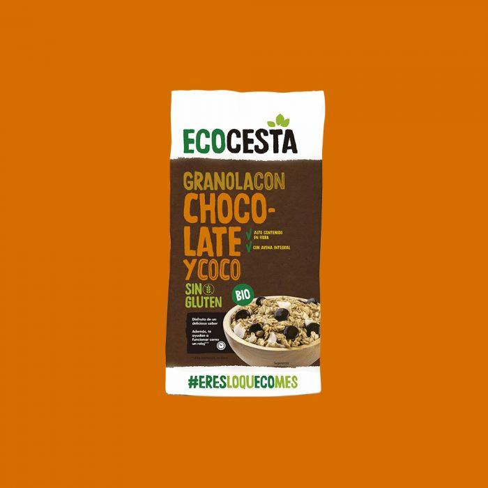 Granola con Chocolate y Coco Sin Gluten Bio, 350 g