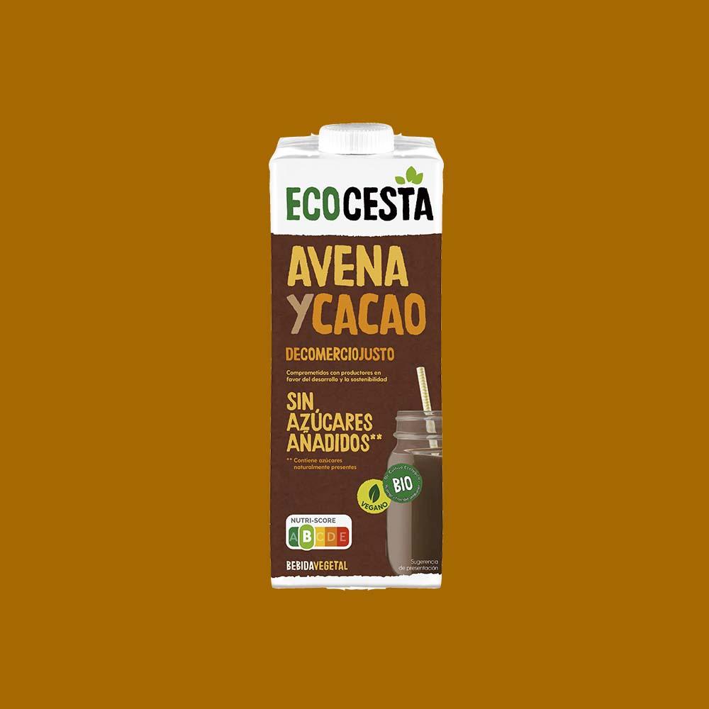 Bebida Vegetal de Avena con Cacao Bio, 1L