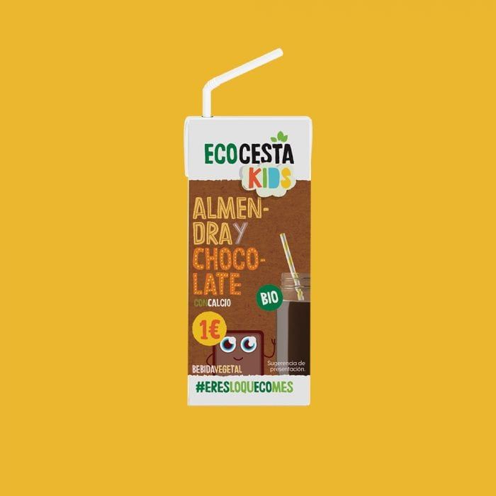Bebida Vegetal Mini de Almendra con Chocolate Bio, 200 ml
