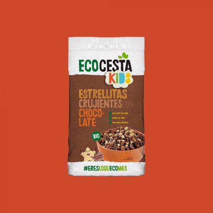 Estrellitas crujientes con chocolate Bio, 375 g