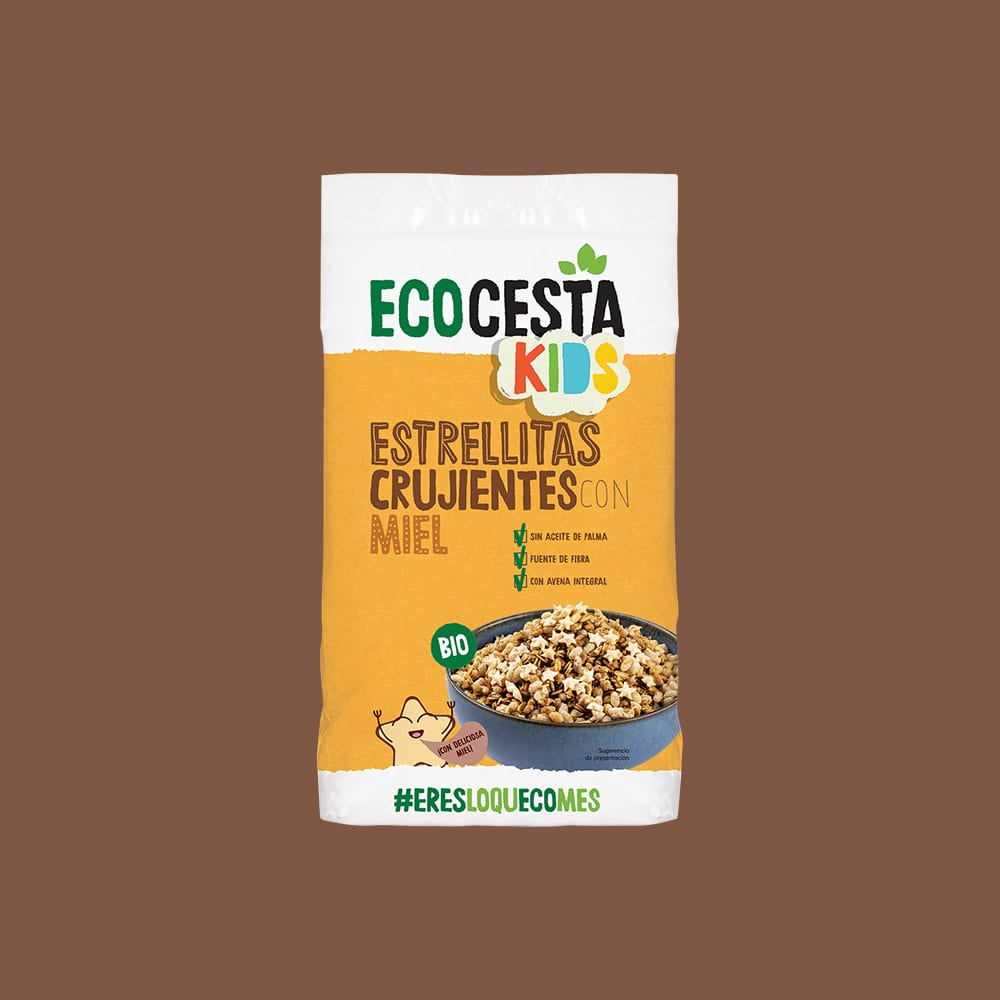 Estrellitas Crujientes con miel Bio, 375 g