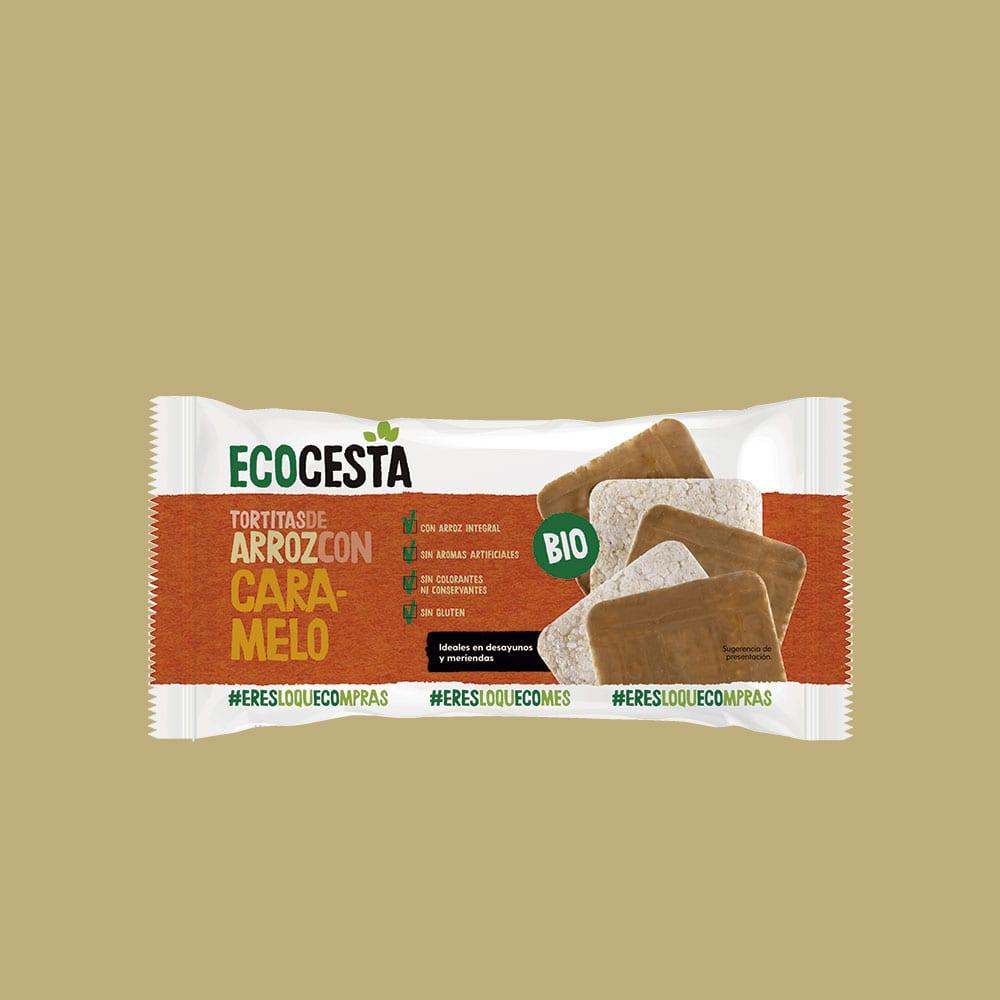 Tortitas de Arroz Integral con Caramelo Bio, 90 g