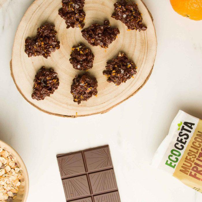 Rocas de muesli con chocolate